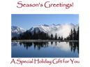 Holidays gift certificate